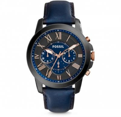 Fossil Analog Leather Band Grant Watch For Men - FS5061