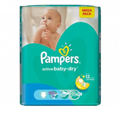 Pampers Active Baby  CP No.3 Medium (4-9kg) 102pcs