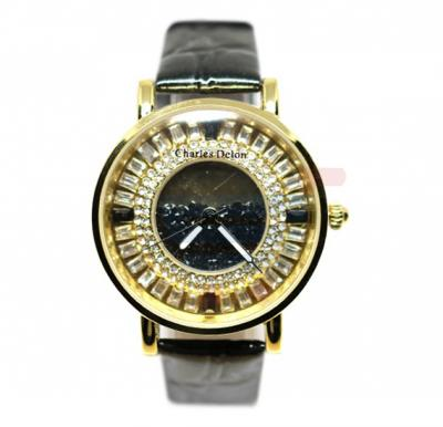 Charles Delon Ladies Watch Leather Band - 5415LBD2