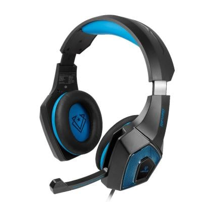Vertux Denali Over Ear Comfort-Fit 3.5mm Gaming Headphone With 7 RGB Colour, Blue