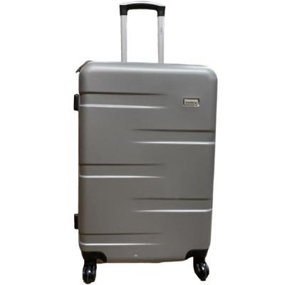 Traveller TR-1017 ABS With Pu Lining 4 Wheel Trolley 24 Inch Gray