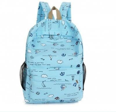 Generic Backpack - Light Blue With Anchor