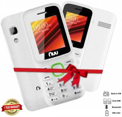 2 in 1 Combo offer NUU F2 Mobile 32MB With Camera White +NUU F2 32MB MobileWithout Camera White