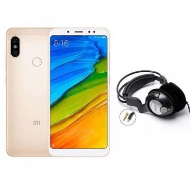 2 in 1 Bundle Offer Xiaomi Note 5, Dual SIM, 32GB, 3GB RAM Mobile With Free Bass Head Phones