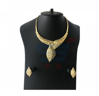 Lama Arts 22K Gold Plated Leaf Design Necklace Set,  LM 004