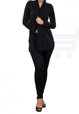 WAL G Italy Waist Coat  Coats Dress Black - WG 6835 - XL