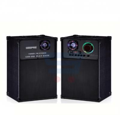 Geepas 2.0 Channel Professional Speaker System GMS8538, With Disco LED Light