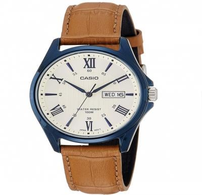 Casio Mtp-1384Bul-9Avdf Enticer Mens Analog White Dial Mens Watch