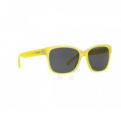 DKNY Wayfarer Transparent Yellow Frame & Black Mirrored Sunglasses For Women - DY4096368287
