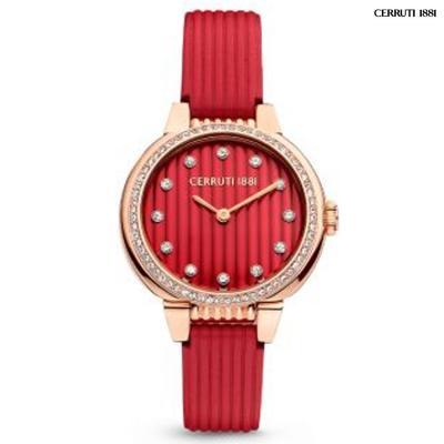Cerruti CRWM28205 Analog Watch For Women, Red