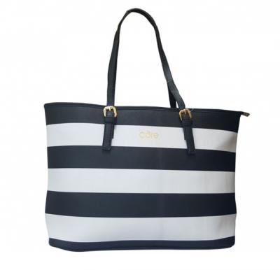 Core 2013 Tote Bag for Women - Pure Leather, Black Color