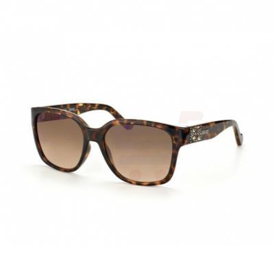 Liu Jo Rectangular Tortoise Frame & Light Brown Gradient Mirrored Sunglasses For Woman - LJ621SR-215