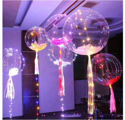 LED String Lights Flasher Lighting Balloon wave Ball 18inch Helium Balloons