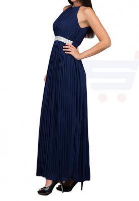 TFNC London Serene Embellished Waist Maxi Evening Dress Navy - CTT 63470 - L