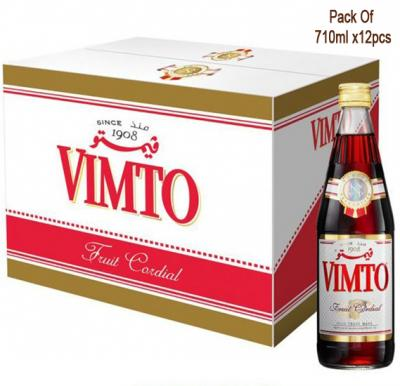 Vimto Cordial Dilutable Juice 710ml Pack of 12pcs