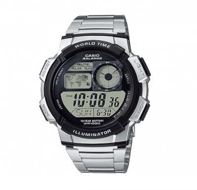 Casio Mens Stainless Steel Digital Watch, AE-1000WD-1AVDF