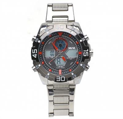 Analog Digital stainless steel mens watch,SBAO S-9011