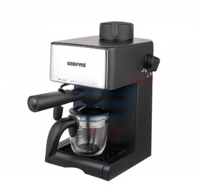 Geepas Cappuccino Maker GCM6109, Stainless Steel 4 Cup Filter