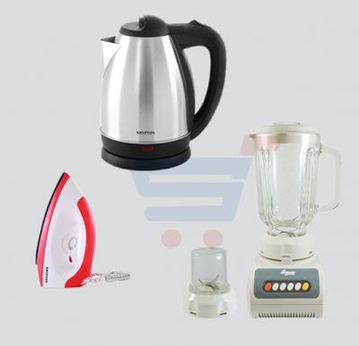 Combo Offer,  Krypton Water Kettle 1.8Litre KNK6009, He-House 2 in 1 Blender HT999, Krypton Dry Iron KNDI6001