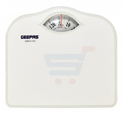 Geepas Manual Bath Scale 125kg Weight Over Load Index