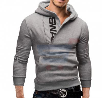 Mens SWAG Hoodie Casual Design Fashion Coat Grey (Xtra Large) - 1526