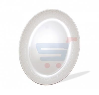 Royalford Melamine Ware 14 inches Oval Plate - White Pearl RF4496
