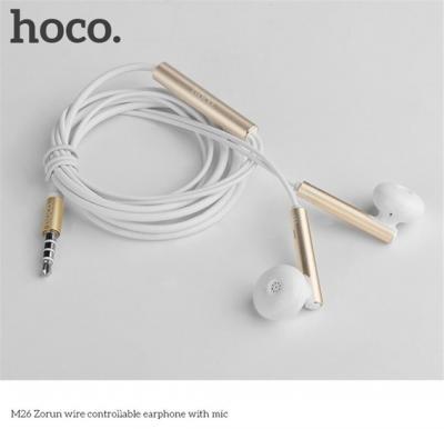 Hoco Zorun wire controllable earphone with mic,Tarnish, M26
