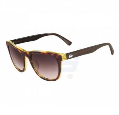 Lacoste Oval Tortoise Frame & Brown Mirrored Sunglasses For Woman - L650S-218