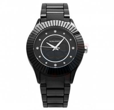 Nina Ricci Black Dial Ladies Watch - N045002SM