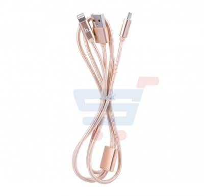 Hoco Knitted ligtning charging Cable X2
