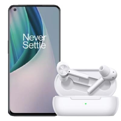 2 In 1 OnePlus Nord N10 Dual SIM 6GB RAM 128GB 5G Midnight Ice And OnePlus Buds Z True Wireless Earbuds White