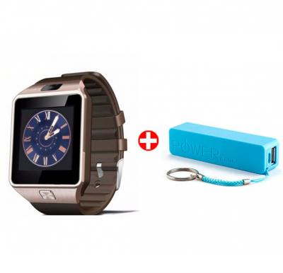 Bundle Offer! Fantime SW07 Smart Watch, Bluetooth, Music Player, Camera & Get Power Bank FREE (GOLD)
