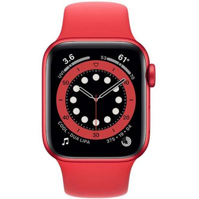 Apple Watch Series 6-40 mm GPS Aluminium Case with Red Sport Band