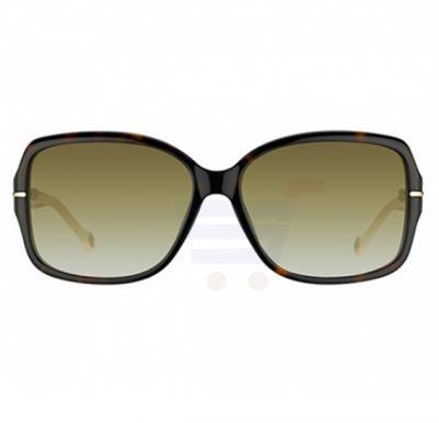 Carolina Herrera Round Brown Frame & Gradent Brown Mirrored Sunglasses For Women - SHE574-0722