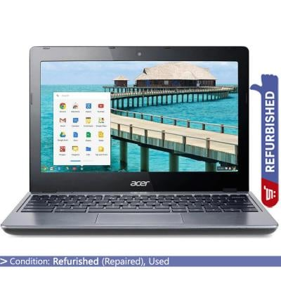 Acer Chromebook C720-2103 11.6 inch Display Intel Celeron 2955U 1.40 GHz 2GB RAM 16GB Storage Chrome OS, Refurbished