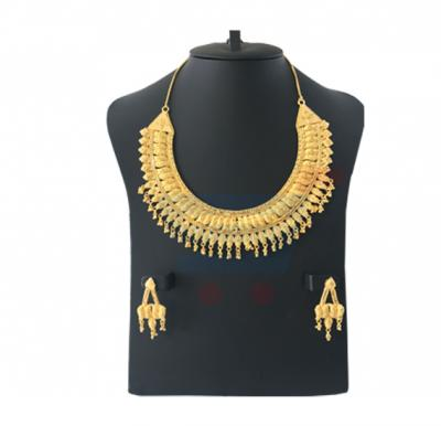 Flora Jewellery 22K Gold Plated Ladies Necklace And Earings Set, FL 24