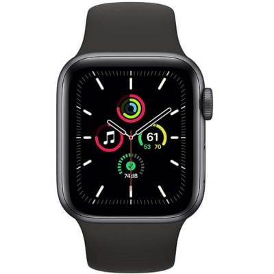 Apple Watch SE-44mm GPS Space Gray Aluminium Case with Black Sport Band
