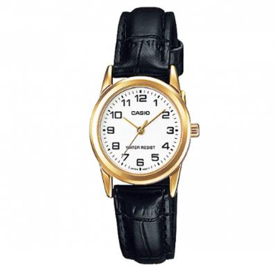 Casio Genuine Leather Watch For Women, LTP-V001GL-7BUD
