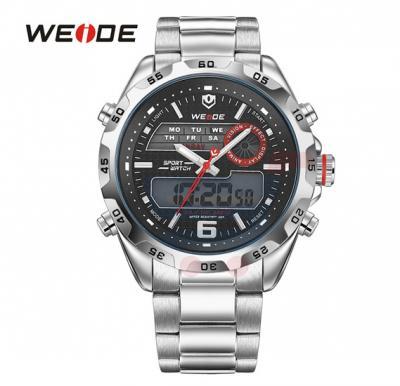 Weide Mens Watches Top Brand Luxury Quartz Watch 30 Meters Waterproof Back Light Display Wristwatch - 3403