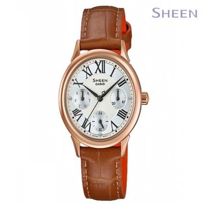 Sheen Analog Brown Wrist Watch For Women, SHE-3049PGL-7AUDR
