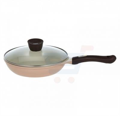Pallas Ceramic Eco Handy Fry Pan with lid 24cm, Beige