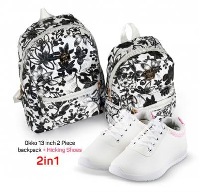 2 in 1 Limited Offer, Okko 13 inch 2 Piece backpack plus Hicking Shoes Size 35