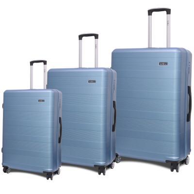 Traveller ABS 4 Wheel Premium Luggage Trolley 3pcs Set, Blue, TR-3300