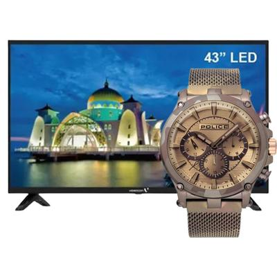 BUY Police P15920JSMBN Tamann Analog Men Watch and Get Videocon 43 Inch Android Smart LED TV Black, E43DM1100 FREE