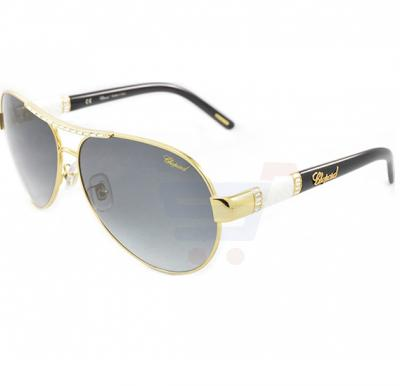 Chopard Oval Rose Gold Frame & Smoke Gradient Mirrored Sunglass For Women - SCHA59S-300F