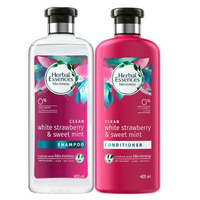 Herbal Essences Bio:Renew White Strawberry & Mint Shampoo + Conditioner 400ml@25%OFF, 73707.501