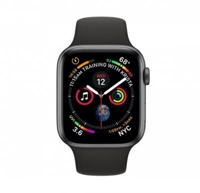 Apple Watch Series 4 40mm GPS + Cellular Black Sport Band MTUG2