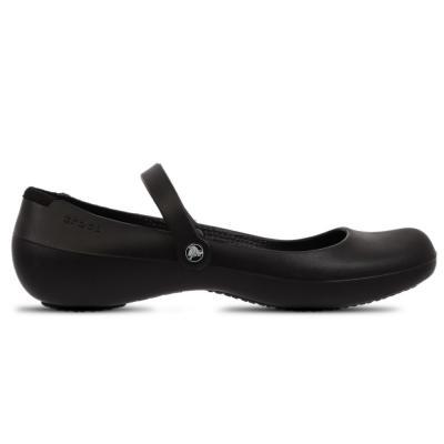 Crocs Womens Clogs Pump Shoes Alice Work Black, Size 39