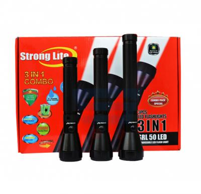 Strong Lite LED Flash Light Combo SRL - 50 (3 in 1)