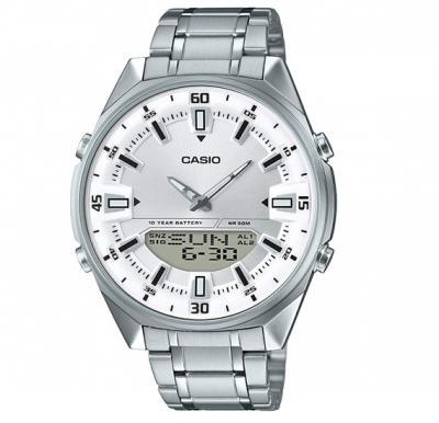 Casio AMW-830D-7AVDF Enticer Analog-Digital Silver Dial Mens Watch
